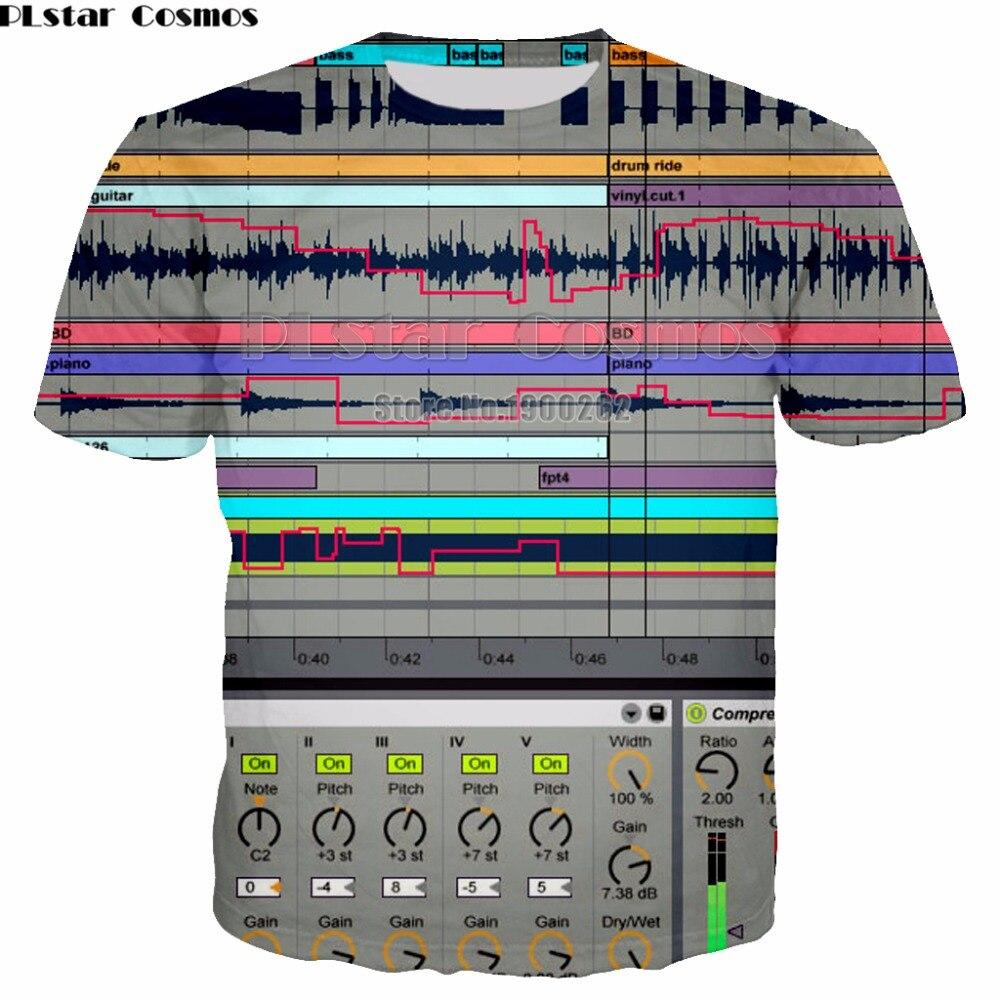 PLstar Cosmos Ableton live-Camiseta nueva marca Popular, 3D Camiseta con estampado, camiseta...