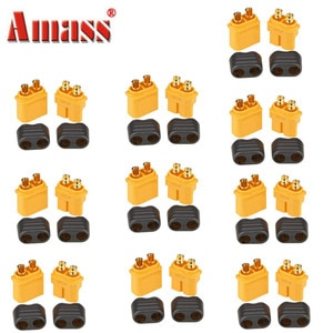20PCS Amass XT60+ Plug Connector With Sheath Housing Plugs For RC Helicopter Quadcopter FPV Racing Drone Lipo Battery 10Pair