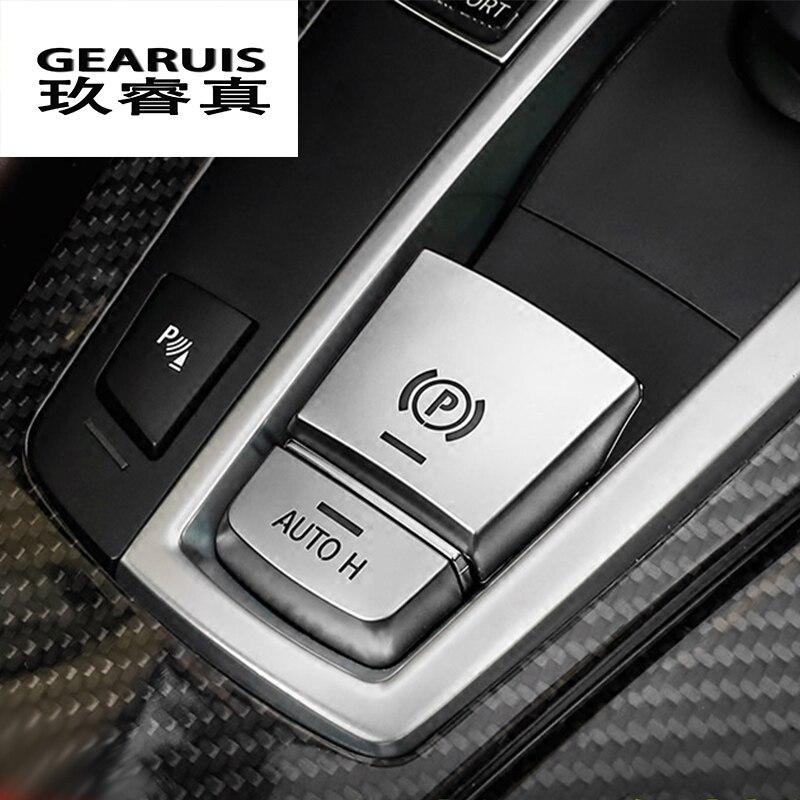 Estilo de coche freno de mano Central Auto H botón tapicería decorativa para BMW 5/6/7 Series F10 GT F07 X3 f25 X4 f26 X5X6 Accesorios