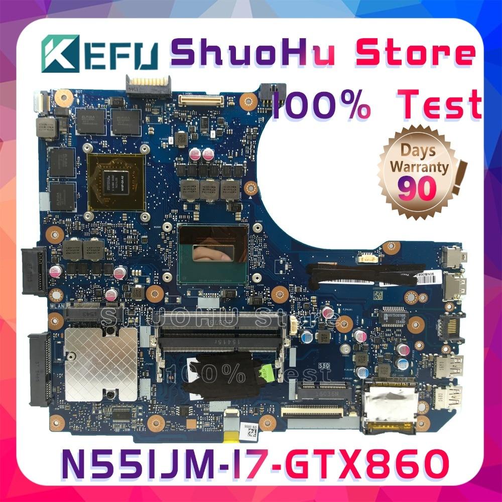 KEFU N551JM para ASUS G551JM N551JW N551JX N551JQ G551JK N551JK I7-4710HQ placa base de computadora portátil a prueba 100% trabajo placa base original de