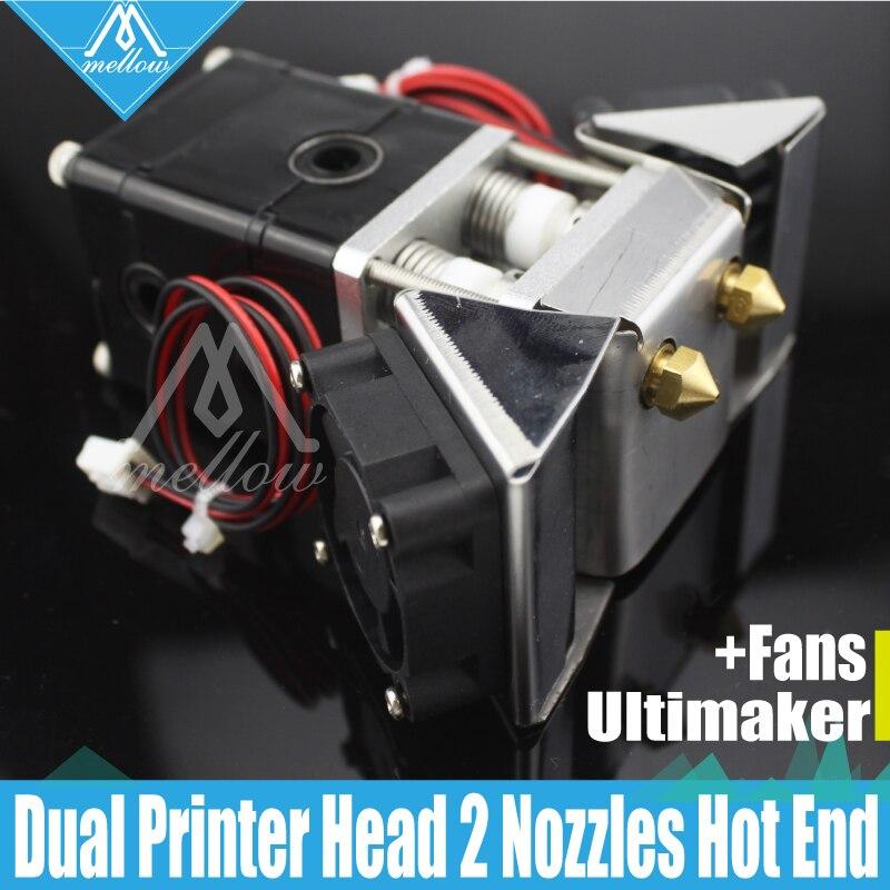 Impresora 3D Heaterblock Ultimaker 2 + UM2 extrusora de doble cabezal Olsson conjunto de abanicos boquillas 0,25-0,8mm HotEnd para 1,75/3mm