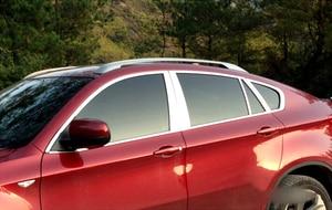 Полный комплект для BMW X6 E71 2009 2010 2011 2012 2013 2014, внешний корпус, отделка из нержавеющей стали, с центральной опорой, 20 шт.