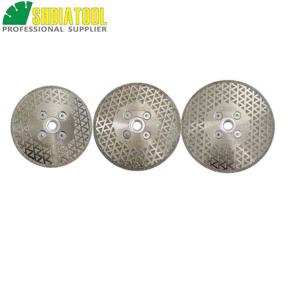SHDIATOOL 1 pc M14 hilo galvanizado de diamante de corte y rectificado de mármol de un solo lado de hoja de diamante de piedra de la rueda