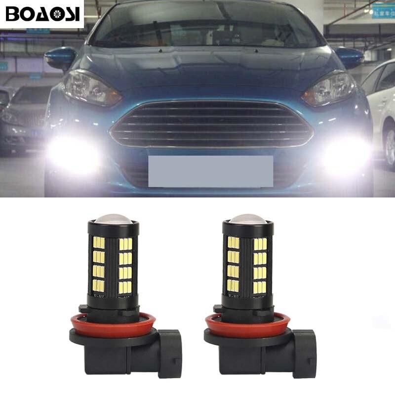 BOAOSI 2x H8 H11 светодиодные Автомобильные противотуманные фары для вождения DRL лампы для FORD MONDEO MK3 MK4 C-MAX S-MAX фокус 01 + FUSION