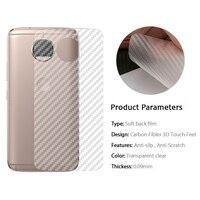 100 шт./лот для Motorola G5s G5 Plus G4 Play X4 Moto C E4 Plus, защитная 3d-пленка для задней панели из углеродного волокна