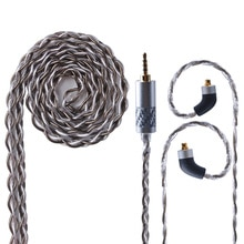 Cable de cobre y cristal único gris plateado UPOCC aolizi 28AW 7N 2,5/3,5/4,4mm Cable de auricular equilibrado MMCX de Taiwán para HQ8