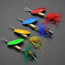 L008M Mix 4 pièces/ensemble leurre de pêche cuillère de pêche en métal leurre de pêche appât cuillère cuillère rotative cuillère rotative