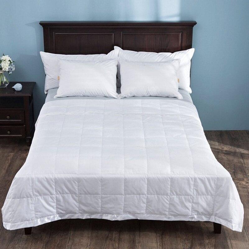 Пуховое одеяло с атласной отделкой 230 нитей 100% хлопок 550 x см пуха белой утки г/м2