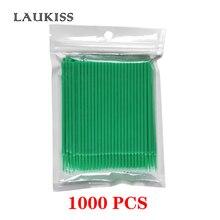 1000 pièces jetables cils Extension individuel écouvillon Micro brosse pour outils dextension de cils vert maquillage brosses LAUKISS
