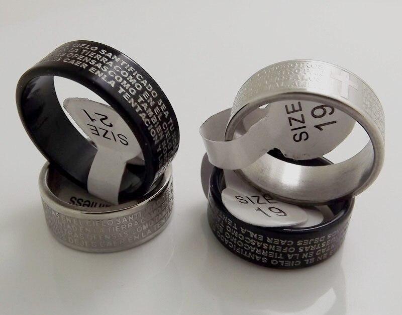 ¡Venta al por mayor! 50 anillos de acero inoxidable para oración del...