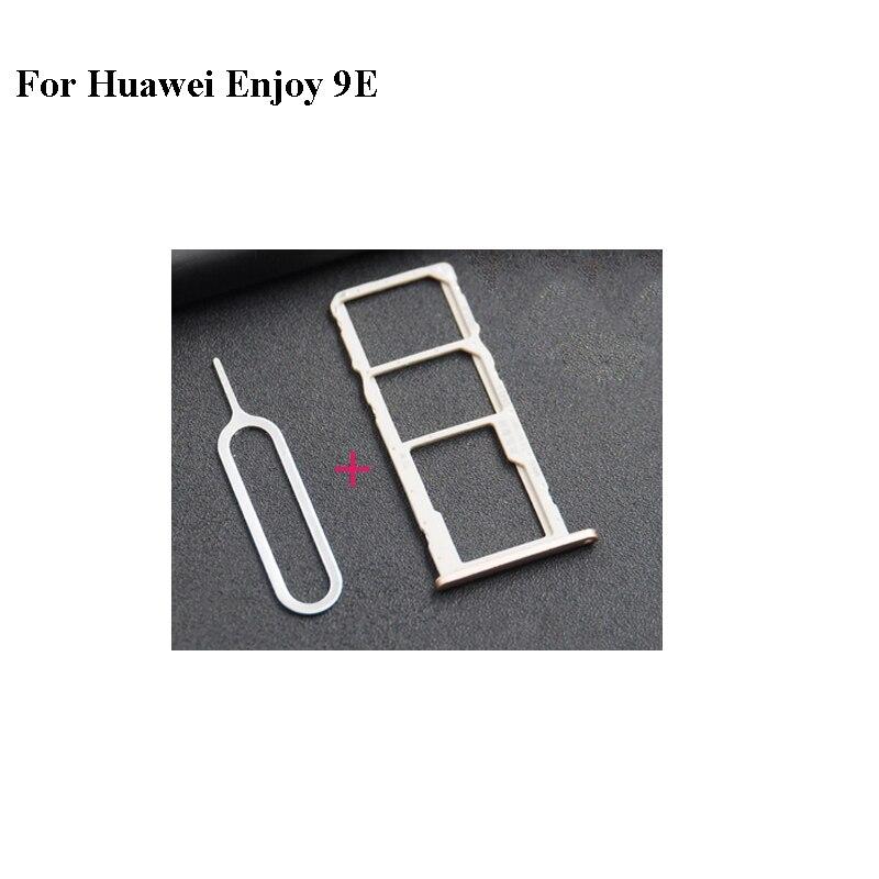 For Huawei enjoy 9e 9 e Nano Sim+Micro SD Card Tray Holder Slot Socket MRD-AL00 Parts Enjoy9E With T