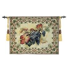 100*138 см винограда настенный гобелен Бельгия искусство настенные марокканский декор декоративный настенный гобелен из ткани tapisserie tapiz pared