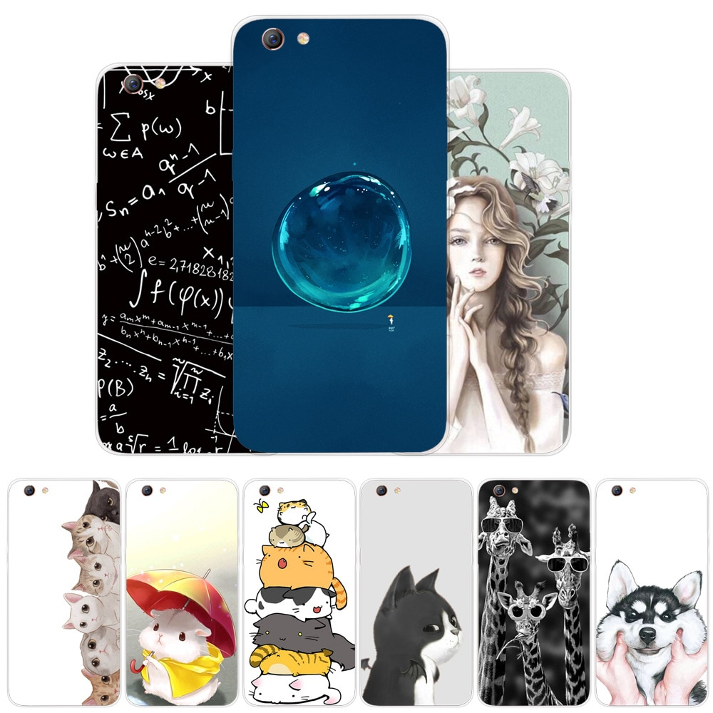 Fashion Cute Cartoon Animals Phone Case For Oppo R9 R9S R11 R15 Plus Painted Phone Case For Oppo Sof