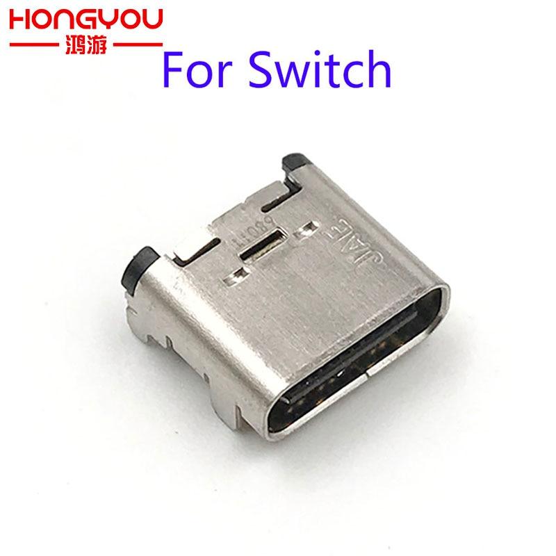 Puerto de carga de 5 uds, puerto de carga de repuesto, conector de alimentación, enchufe de cargador tipo C para consola Nintendo Switch NS
