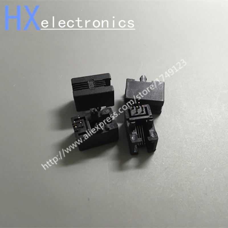شحن مجاني 200 قطعة/الوحدة RJ95001-4P4C 95001 4P4C RJ11 الهاتف مقبس شبكة المقبس