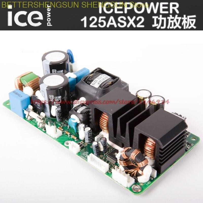 Free shipping ICEPOWER power amplifier board  ICE125ASX2 Digital power amplifier board have a fever stage power amplifier module 2018 hot sale 1pcs tda7294 subminiature power amplifier empty board free shipping