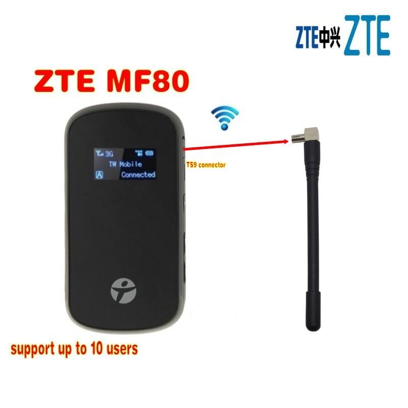 راوتر واي فاي ZTE ، MF80 ، 3g ، 42 ميجابت في الثانية ، نقطة اتصال محمولة ، 4g ، راوتر lte ، pk mf60 ، mf63 ، mf90c ، mf90 ، mf910 ، mf95 ، mf96