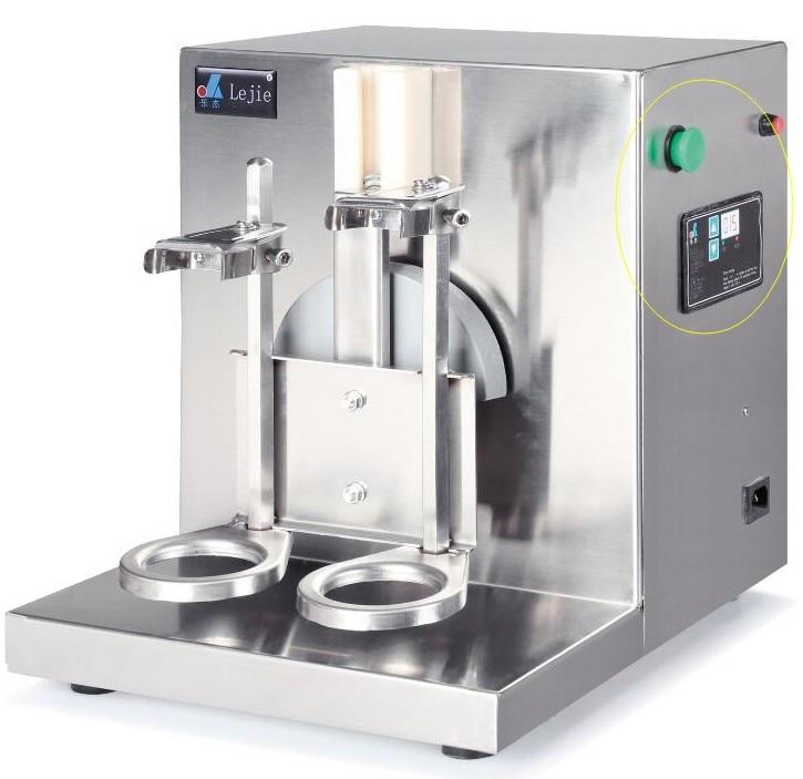 JKL new 2017 Hot sale 220V AUTO Stainless Steel milk shake machine drinker mixer machine double slider Blender milk shaker