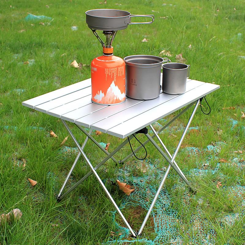 Mesa plegable lateral pequeña para acampada, mesa para acampada, mesa auxiliar plegable...