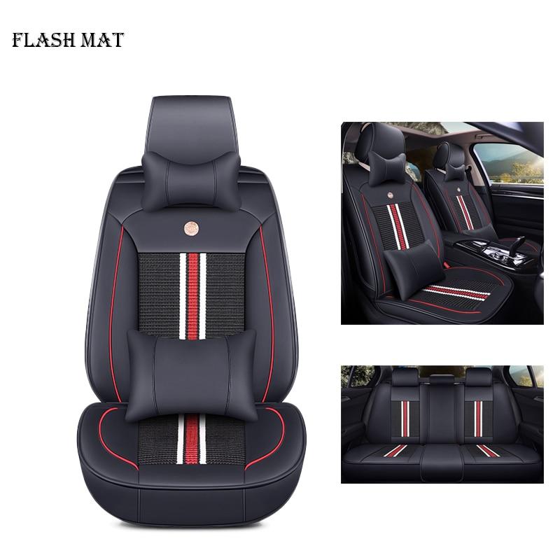 Ice silk car seat cover for toyota rav4 corolla chr camry vitz premio verso Prius land cruiser fortuner Car accessories