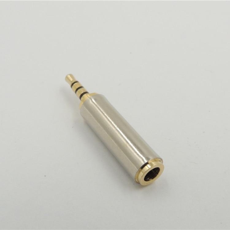 Audio 2,5mm macho enchufe hembra a 3,5mm Jack Aux estéreo MIC TRRS adaptador