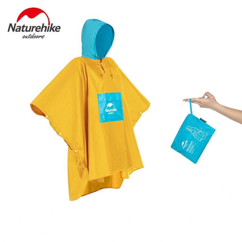 Naturehike New 3 in 1 Raincoat Mini Tarp and Mat Outdoor Camping Hiking Cycling Poncho Waterproof Rain Jacket