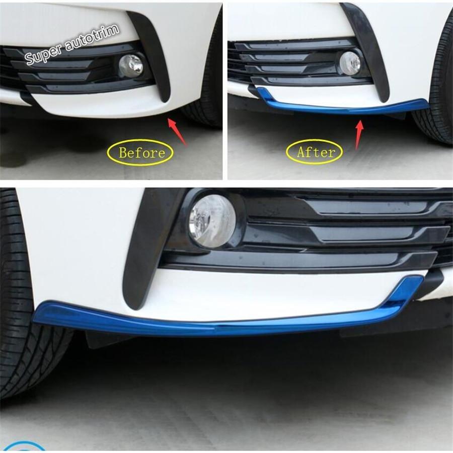 Accesorios lapetus, faros antiniebla delanteros, parachoques, Protector de esquina inferior, cubierta de tira embellecedora, 2 uds, aptos para Toyota Corolla 2017 2018