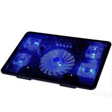Hot Koop Echt 5 Fan 2 Usb Laptop Cooler Cooling Pad Base Led Notebook Koeler Computer Usb Fan Stand Voor laptop Pc 10 ''-17''