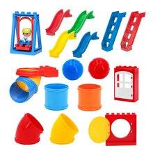 Grands blocs complètent les pièces glissière échelle grande roue balançoire aire de jeux Compatible