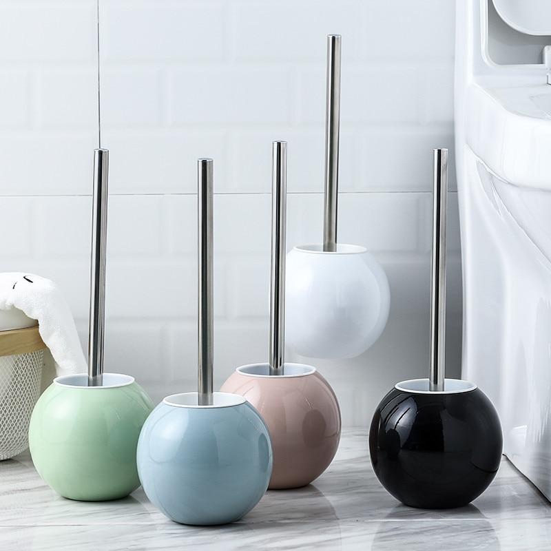 حوامل فرشاة تنظيف المرحاض الحمام المقاصة أداة الحائط مرحاض الفولاذ المقاوم للصدأ فرشاة المرحاض مجموعة حامل الأجهزة حمام 4 اللون
