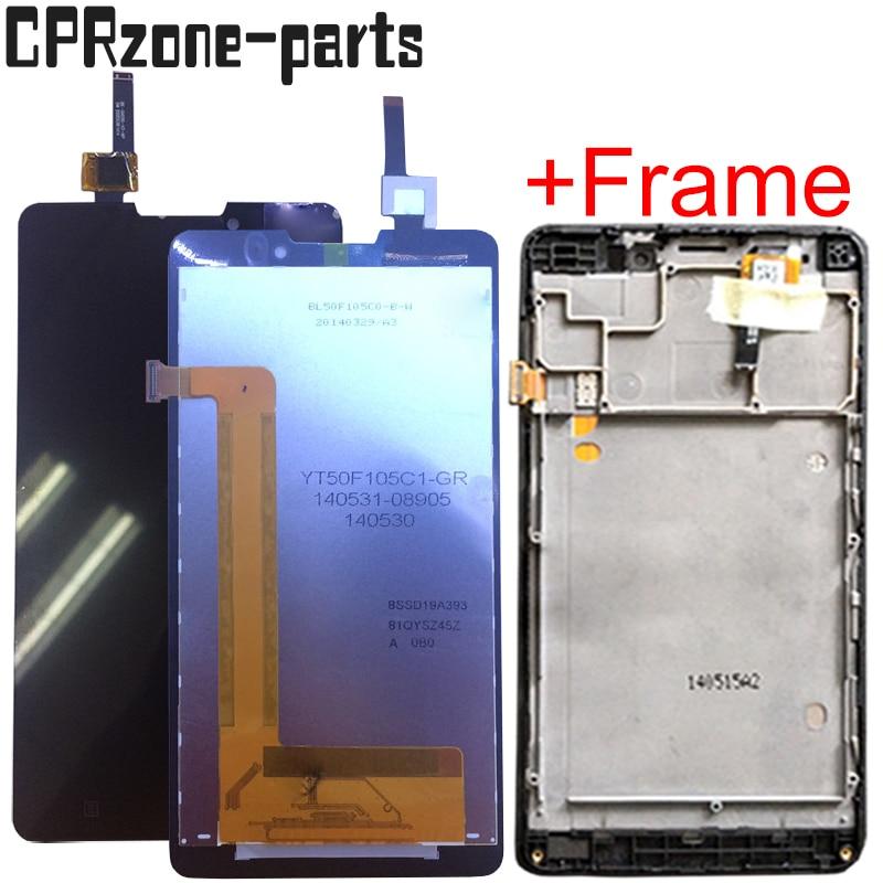 """Lcd de 5,0 """"con marco para Lenovo P780 LCD pantalla táctil sensor digitalizador montaje envío gratis"""