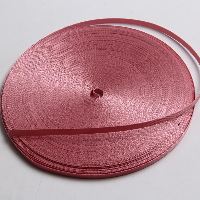 high quality nylon ribbon 7mm pink color 1/4 inch grosgrain bia