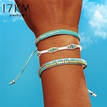 17KM Bohemia Beads Weave Rope Friendship Bracelets For Woman Men Cotton Handmade Charm Bracelet & Bangles Ethnic Jewelry Gifts