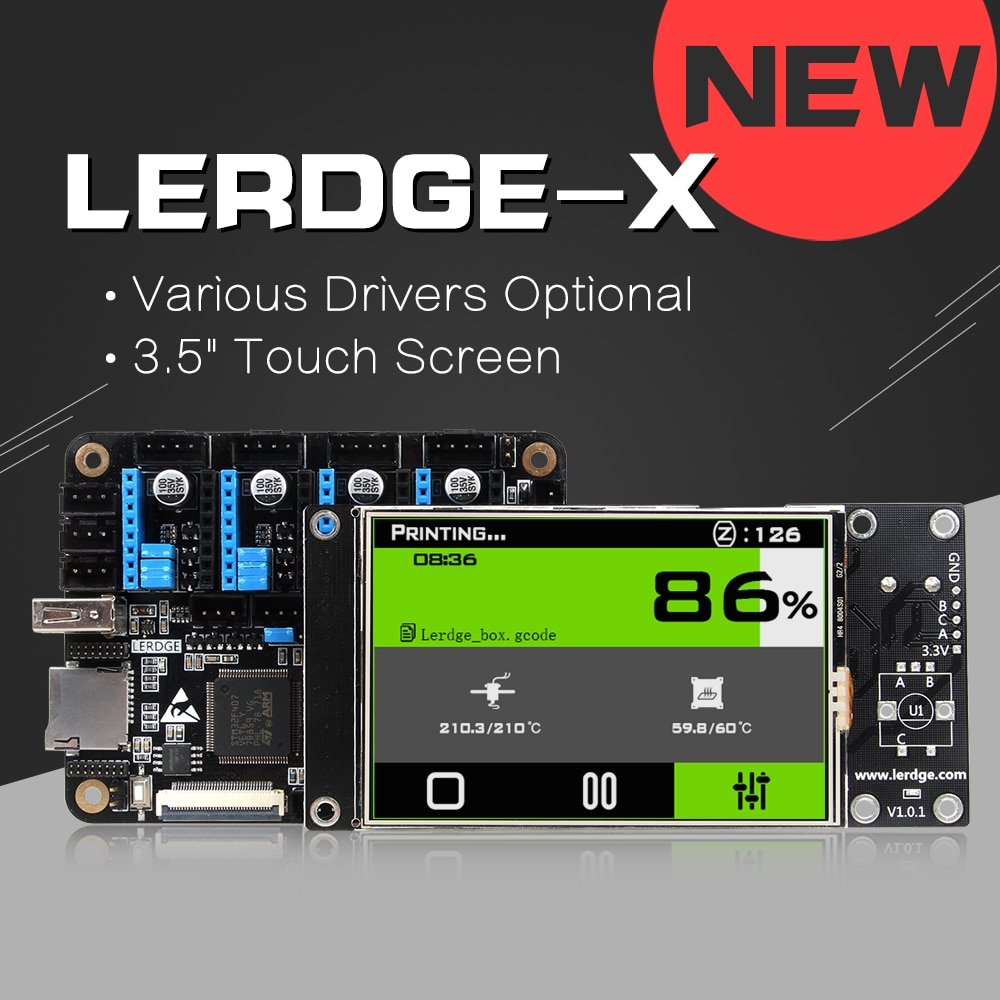 3D طابعة تحكم 32bit مجلس ل LERDGE-X Reprap 3d طابعة اللوحة الذراع 32Bit اللوحة التحكم 3.5