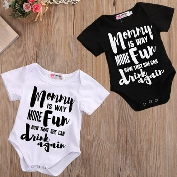 DERMSPE Summer 2019 Toddler Baby Girls Boys Romper With short sleeves Letter printed Jumpsuit Outfits Sunsuit Clothes Playsuit