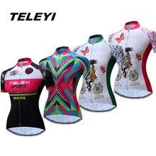 2018 TELEYI Green MTB велосипедная трикотажная Женская одежда для велоспорта, для девочек, Ropa Ciclismo Pro, трикотажный топ для езды на велосипеде, дышащие