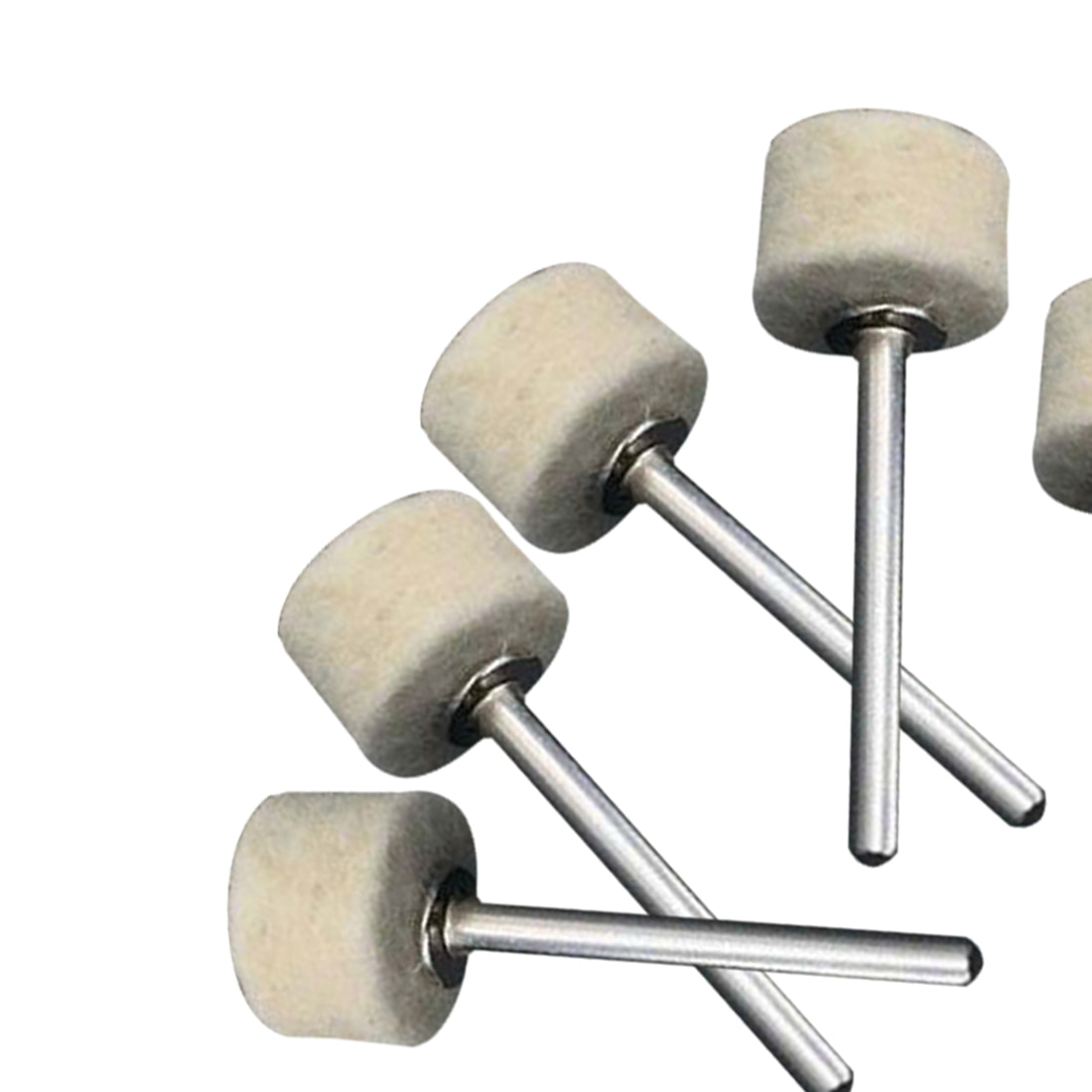 50Pcs 13mm Wool Felt Polishing Buffing Wheel La rueda de rueda de moler+2Pcs 3.2 mm Shanks for Rotary Tool Accessories недорого