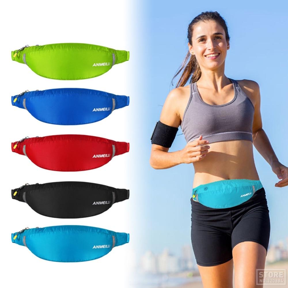 Сумка для бега ANMEILU, дышащая Спортивная поясная сумка для занятий спортом на открытом воздухе, для бега, велоспорта, водонепроницаемая поясн...