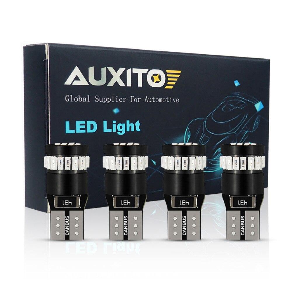 4x W5W T10 LED bombilla LED tipo CANBUS coche DRL 3014 SMD 194 de 168 de aparcamiento luz de lectura luz Interior de la lámpara 12V 12V 6000k blanco rojo