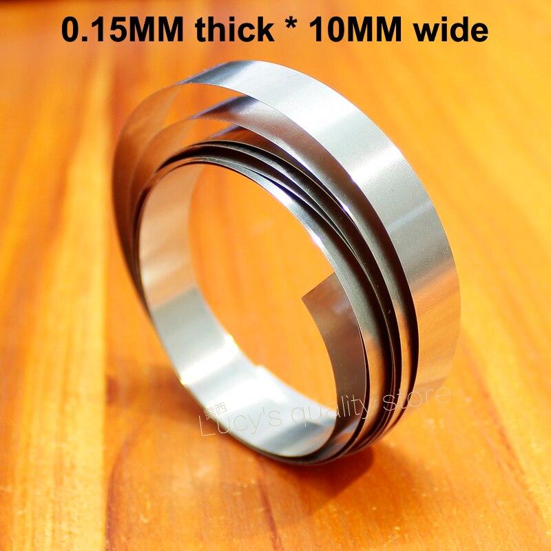 Купить с кэшбэком 10m/lot Battery Pack DIY Nickel Plated Nickel Plated Steel Strip 18650 Battery Connected Nickel Plate Wide 5MM/6MM/8MM