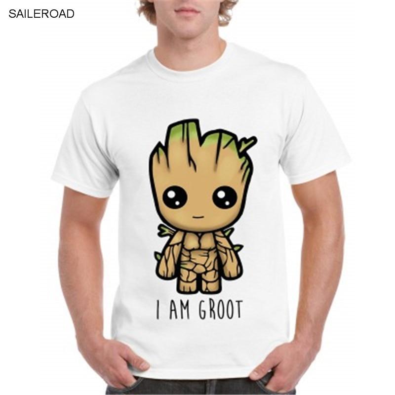 2019 3D Print Short Sleeves Men T Shirt Harajuku Summer Groot Men Tshirt Camiseta Masculina Funny Anime T Shirts Cool Tops Tees