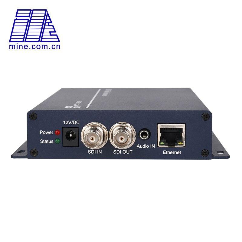 Codificador de vídeo H.264 SDI a IP, transmisión en vivo RTMP RTSP 1080p completa en Facebook Youtube Streaming Wowza