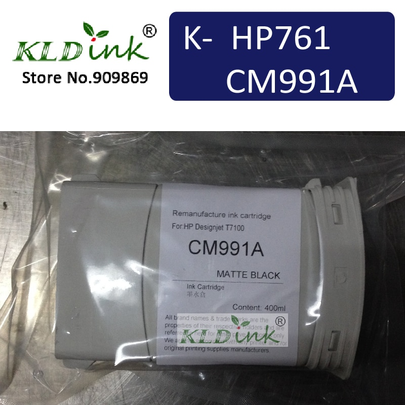 CM991A HP761 ماتي الأسود استبدال خرطوشة لل طابعة ديزاين t7100 و T7200 سلسلة