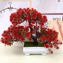 Plantes artificielles petit arbre Pot plantes fausses fleurs en Pot Fleur Artificielle Kunstbloemen Eucalyptus Fausse Plante