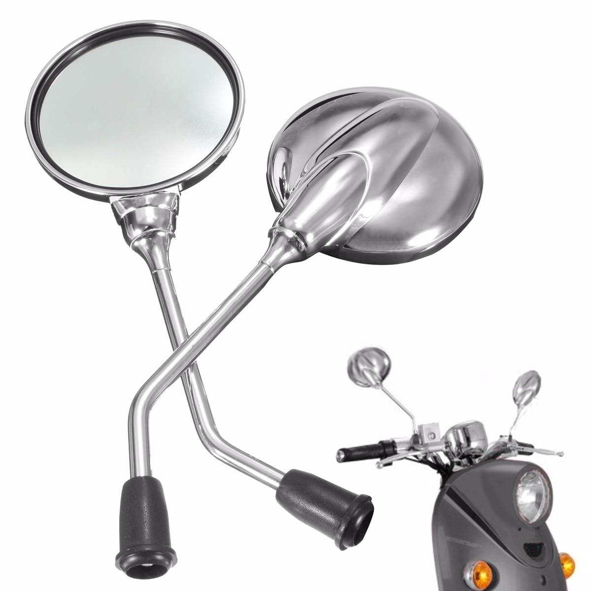 1 пара, хромированное зеркало заднего вида для мотоцикла, заднего вида, 8 мм, круглое