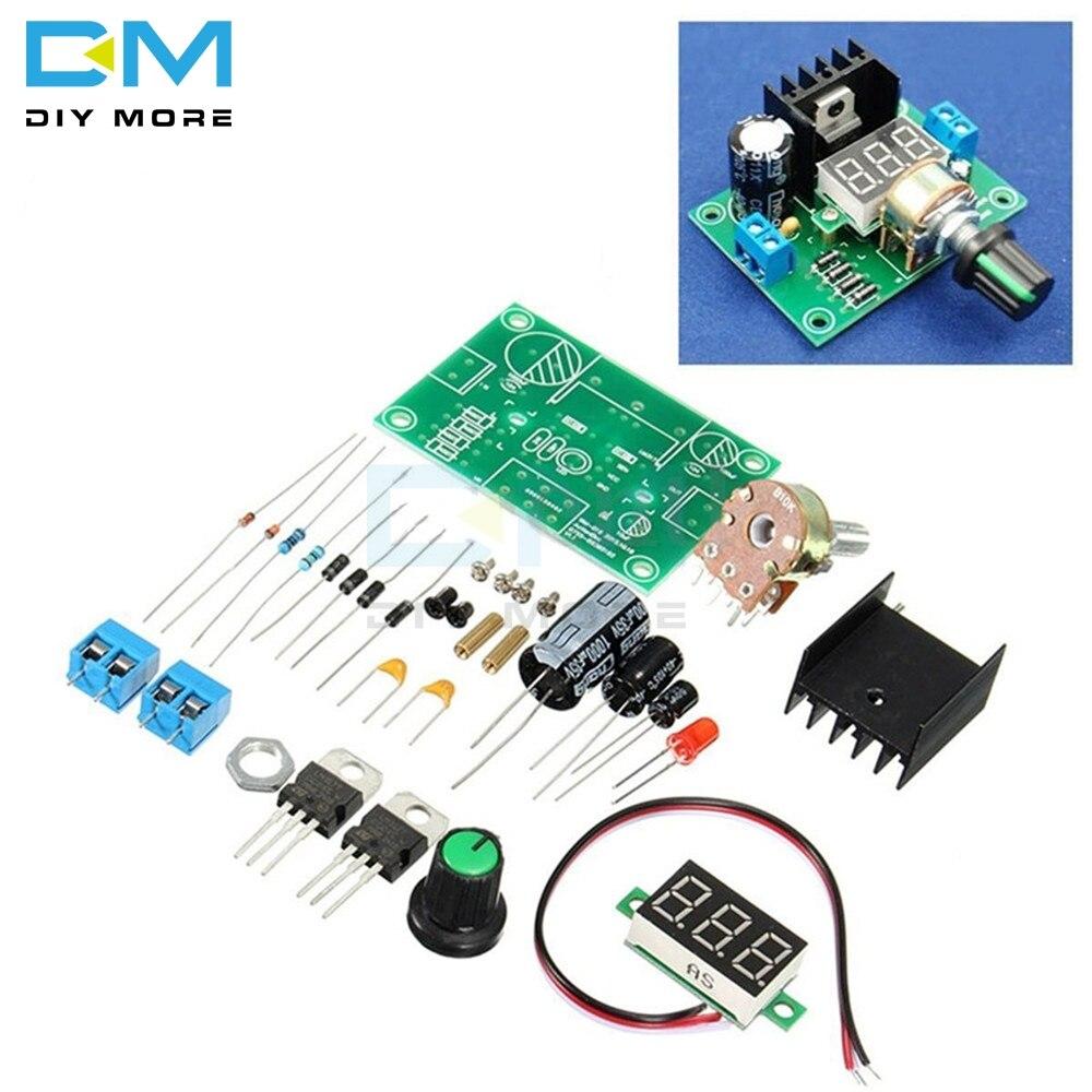 Módulo regulador de tensión regulable LM317, pantalla LED, producción, gran diseño de graduación de escuela secundaria