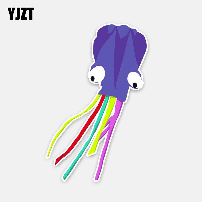 YJZT 10,5 CM * 16,5 CM divertida Medusa púrpura cometa PVC Ventana de coche calcomanías 5-0368