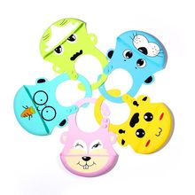 Baby Bibs Burp Cloths Waterproof Baby Silicone Bibs Toddler Kids Adjustable Feeding Apron Saliva Rabbit Tiger Cartoon Cute Bib