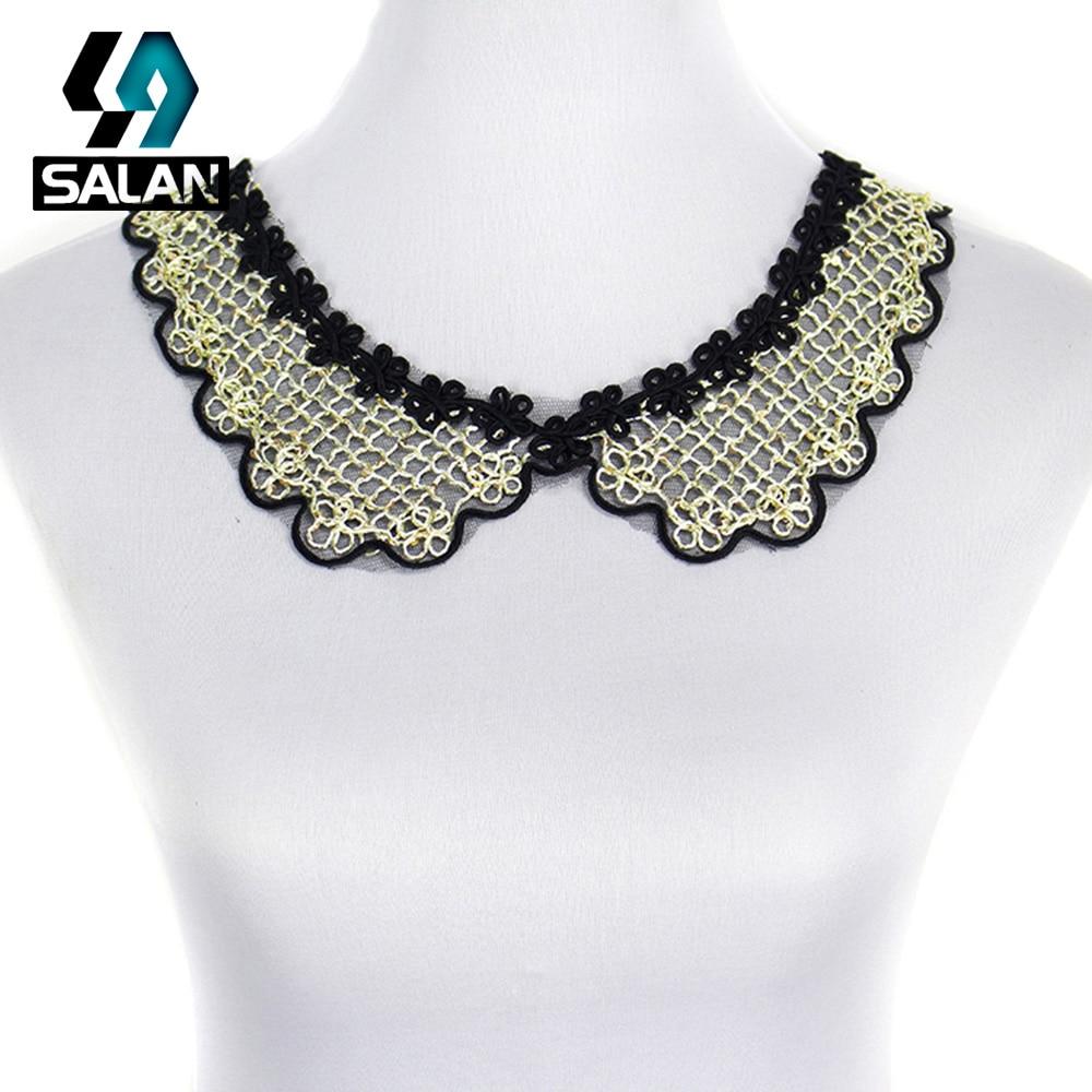 Punto directo boutique de nueva cuello DIY decorativo hueco discontinuas cuentas de encaje fino de alto grado collar hecho a mano