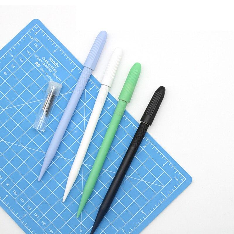 Metal 12 cuchillas cuchillo de tallado papel cortador cuchilla para manualidades DIY herramientas de corte utilitario cuchilla de papelería suministros